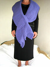 HANDMADE Knit CROCHETED Women PASHMINA Infinity SCARF Shawl WRAP Lavender PURPLE