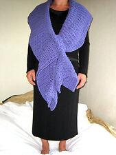 HANDMADE Knit CROCHETED Women PASHMINA Infinity SCARF Shawl WRAP Lavender PURPLE
