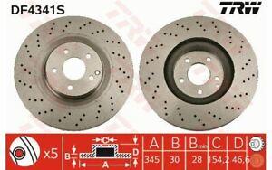 2x TRW Disques de Frein Avant Ventilé 345mm pour MERCEDES-BENZ CLASSE C DF4341S