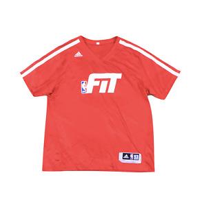 Adidas NBA Authentics Detroit Pistons Gigi Diatome Team Issued FIT Shirt Red 2XL
