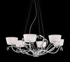 Lampadario classico di design foglia argento e paralumi BELL dolce vita 3012/L6L