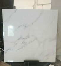 White Marble Effect Polished Porcelain Tiles 900x900 £36.95 per m² Calacatta