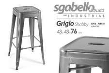 SGABELLO METALLICO SERIE INDUSTRIAL GRIGIO SHABBY 43*43*76 CM TOLIX ONN-745935