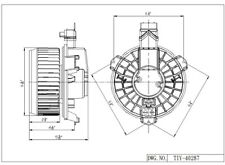 HVAC Blower Motor Front TYC 700230