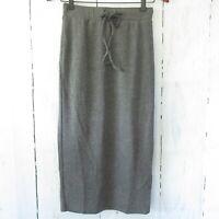 New Umgee Skirt S Small Gray Ribbed Knit Midi Pencil