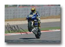 VALENTINO Rossi Firmato a Mano 12X8 foto-MotoGP Autografo-YAMAHA 3.