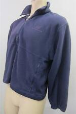 mens NEW BALANCE PURPLE 1/2 ZIP FLEECE JACKET sz MEDIUM CLEAN ski snowboard