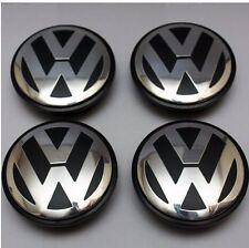NEW 4X VW VOLKSWAGEN OEM  CENTER WHEEL CAP CAPS 65MM GOLF GTI JETTA CC PASSAT