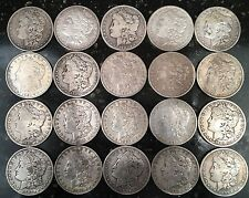 Roll of 20 circulated Morgan silver dollars. (lot2/3)