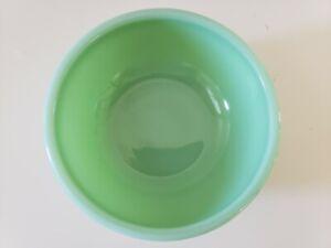 Fire King Hocking Jadeite RESTAURANT WARE 15oz Beaded Rim bowl BLOCK LETTERING