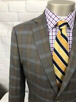 Johnston&Murphy Men's Wool Multicolor Windowpane 2Btn Sport Coat Blazer Sz 38 S