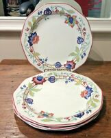CHURCHILL TAMARIND SET OF 4 DINNER PLATES VINTGE 90'S STAFFORDSHIRE ENGLAND EUC