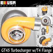 "YELLOW EMUSA GT45 Turbo/Turbocharger 600+HP Universal T4/T66 3.5""V-Band 1.05"