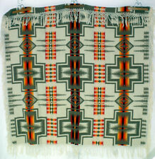 "Pendleton Wool Blanket Beaver State Harding Full 64x68"" Native 1980s Usa Charity"