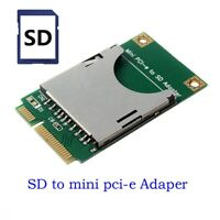Mini PCI-E to SD SDHC TF MMC Memory Card Reader Adapter as SSD PA-MR04