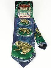 Bud, Weis, and Er Vintage Budweiser Frog Silk Tie Anheuser Busch 1995 All Silk