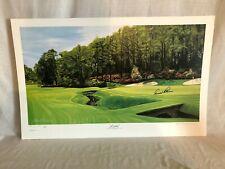 Arnold Palmer Signed Alan Zuniga Augusta National Azalea Masters Golf Lithograph