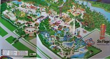 2001 Six Flags New England Amusement Park Map Brochure Guide