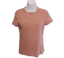 J. Crew Cashmere Shell Size M Medium Sweater Short Sleeve Mauve FLAW Upcycle