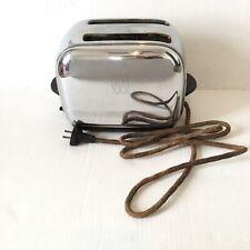 Vintage Toastmaster Toaster 2 Slice Automatic Pop Up 1B12 Chrome MCM WORKING