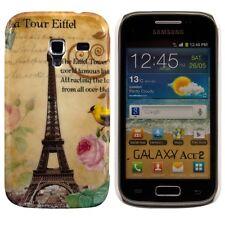 kwmobile Schutz Hülle für Samsung Galaxy Ace 2 Eiffelturm Vogel Beige Case Hard