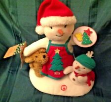 2015 Time For Cookies Hallmark Christmas Plush Snowman 12th Motion  Music w/Tags