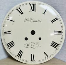 More details for antique english w. hunter painted twin fusee bracket clock dial - 8