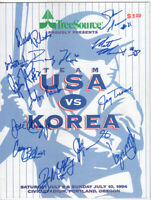 Autographed 1994 Team USA vs Korea Baseball Program, Olympic Baseball Teams