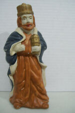 """Vintage One Of 3 Wise Men Hand Made Pottery Nativity 7.5"""" Tall Figurine"""