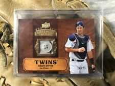 2008 Upper Deck Ballpark Collection Joe Mauer Game Used Button 16/25