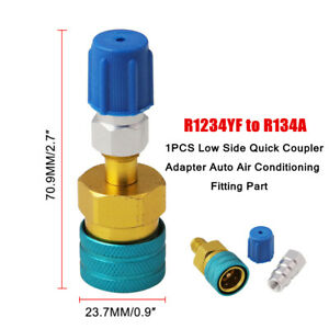 1X R1234YF to R134a Low Side Quick Coupler Adapter Auto Air Conditioning Fitting