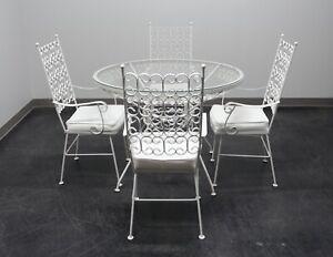Vintage Mid Century 1950s Arthur Umanoff 5-Piece Wrought Iron Dining Set