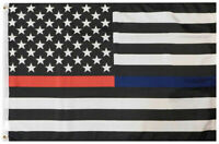 USA Service Memorial Thin Multi Line 100D Woven Poly Nylon 3x5 3/'x5/' Flag Banner