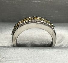 925 Sterling Silver Yellow Diamond Cluster Ring Women Gift