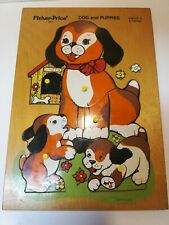 Vintage Fisher-Price #511 Dogs And Puppies Wooden Children's Puzzle 1972 Holland