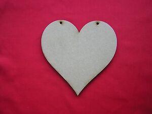 JOB LOT OF 15cm / 150mm  MDF HEARTS 6mm THICK x 12