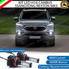 KIT LED H16 6000K CANBUS XENON 9800 LUMEN FENDINEBBIA PER SSANGYONG REXTON MK3