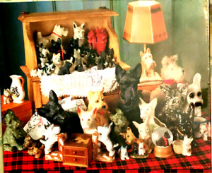 "Springbok Scottie Dogs Adorable Terriers ( VINTAGE ) 34"" x 42.5"" 2000 PIECES"