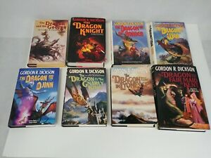 Lot of 8 Dragon Knight and the George 1-4 6-9 Gordon R Dickson Hardcover Books