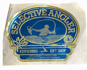 """Vintage Fly Fishing Shop Selective Anglers Larkspur CA 4.5"""" Decal Sticker"""