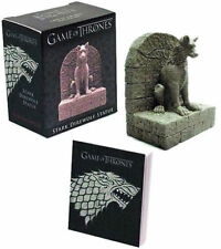 GAME OF THRONES STARK DIREWOLF STATUE WITH  BOOKLET