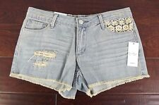 NEW Jessica Simpson Jean Shorts Womens Size 27 NWT Jeans Distressed Blue Wash