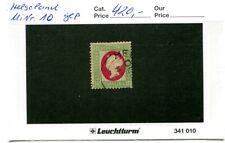 Altdeutschland Helgoland Michel Nr. 10 gestempelt / geprüft