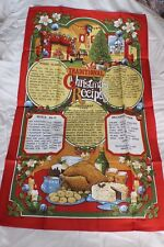 100 % Cotton Tea Towel Traditional Christmas Recipes