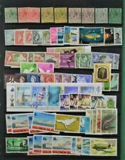 BRITISH SOLOMON ISLANDS STAMPS GOOD SELECTION ON LARGE STOCK CARD  (C80)