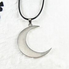 Fashion Retro Style Silver Alloy Crescent Moon Look Pendant Charms Necklace Gift
