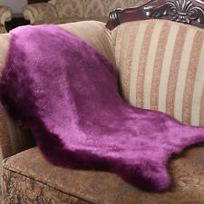 Soft Sheepskin Rug Chair Cover Warm Hairy Carpet Seat  Plain Skin Fur Plain sk09