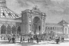 AUSTRIA. Vienna exhibition-imperial party, entry, antique print, 1873