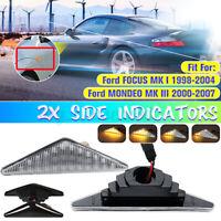 Dynamische LED Seitenblinker Blinker Weiß/Schwarz für Ford Mondeo Focus MK1 MK3