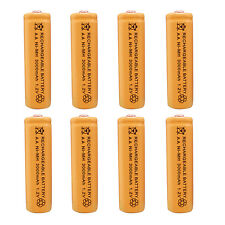 8pcs AA 2A 3000 (Actual 300mAh) 1.2V Ni-MH NiMH Rechargeable Battery Cell Orange